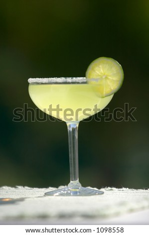 Salted Margarita with Lime - stock photo