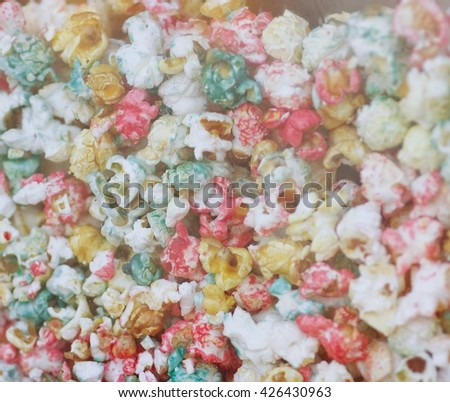 Salted popcorn background - stock photo