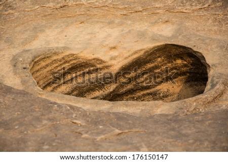 Sam-Pan-Bok Grand Canyon, Amazing of rock in Mekong river ,Ubonratchathani Thailand - stock photo