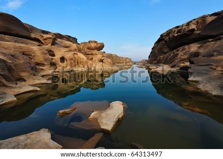 Sam Phan Bhok Grand Canyon Ubon Ratchathanee, Thailand - stock photo