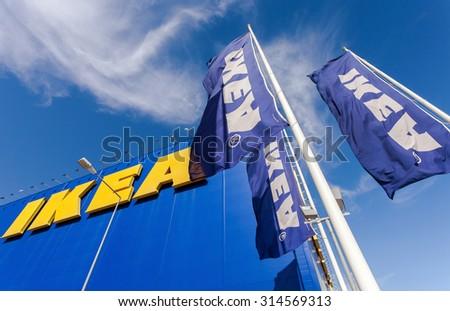 SAMARA, RUSSIA - JUNE 14, 2015: IKEA Samara Store. IKEA is the world's largest furniture retailer and sells ready to assemble furniture - stock photo