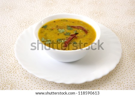 sambar south indian dish - stock photo