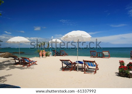 Samet island, tropical beach of Thailand. - stock photo