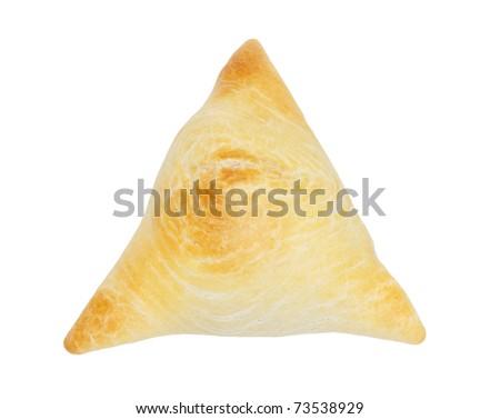 samosa isolated on white - stock photo