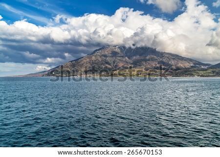 Samothraki island Greece - stock photo