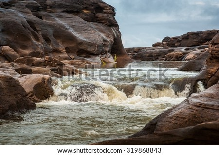 Sampanbok ,grand canyon of Thailand - stock photo