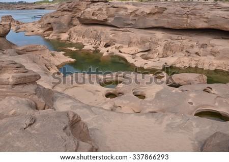 samphanboke  ubonratchatani Grand Canyon in thailand - stock photo