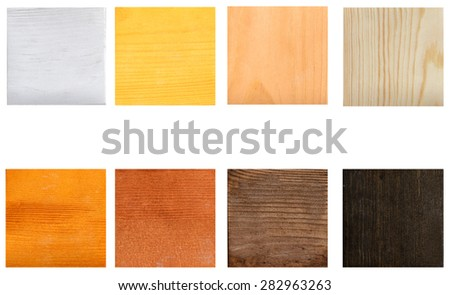 Samples of paint for wood - stock photo