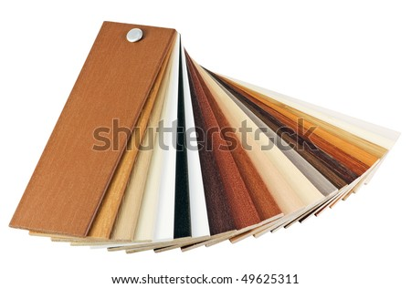 samples of wood coatings is isolated on a white background - stock photo