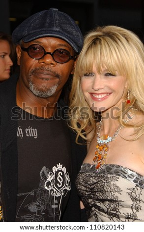 """Samuel L Jackson and Kathryn Morris at the Los Angeles Premiere of """"Resurrecting The Champ"""". Samuel Goldwyn Theater, Beverly Hills, CA. 08-22-07 - stock photo"""