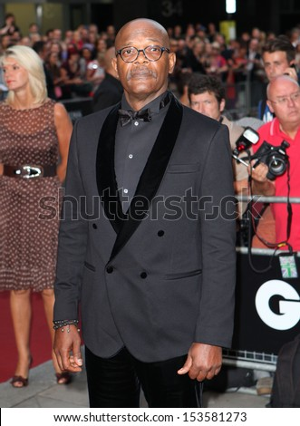 Samuel L Jackson arriving for the 2013 GQ Men Of The Year Awards, at the Royal Opera House, London. 03/09/2013 - stock photo
