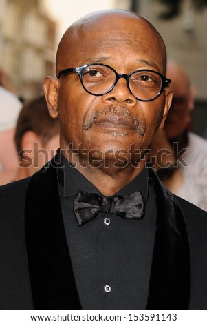 Samuel L. Jackson arriving for the 2013 GQ Men Of The Year Awards, at the Royal Opera House, London. 03/09/2013 - stock photo