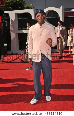 Samuel L. Jackson at the 2009 ESPY Awards at the Nokia L.A. Live Theatre, Los Angeles. July 15, 2009  Los Angeles, CA Picture: Paul Smith / Featureflash - stock photo