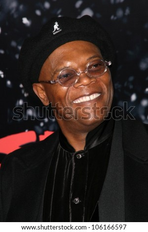 Samuel L. Jackson   at the Los Angeles Premiere of 'The Spirit'. Grauman's Chinese Theatre, Hollywood, CA. 12-17-08 - stock photo