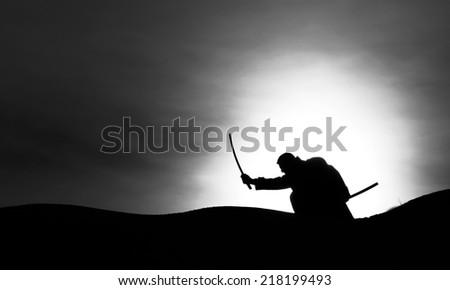 Samurai - stock photo