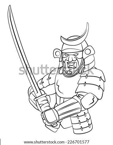 Samurai Warrior - stock photo