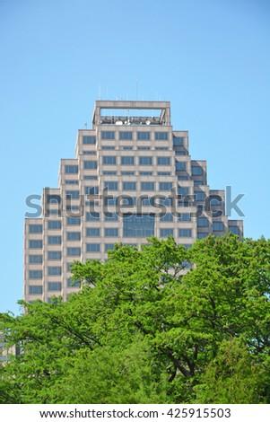San Antonio, Texas - downtown building at sunny summer day - stock photo