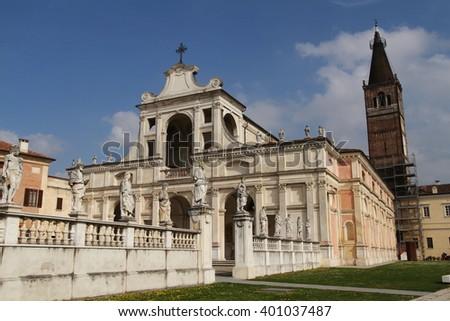 san benedetto po benedictine monastery founded by Matilda of Canossa Mantua Italy - stock photo