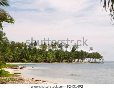 San Blas Islands in Panama - stock photo