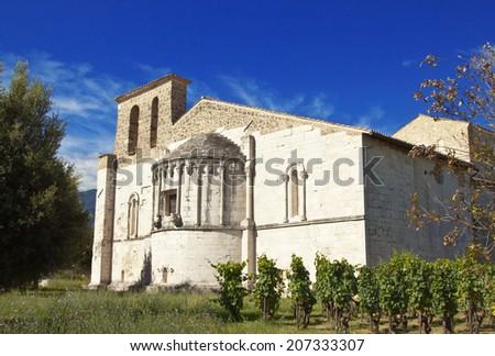San Clemente abbey, apse exterior, Abruzzo region, Italy - stock photo
