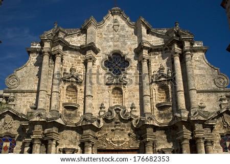 San Cristobal de la Habana Cathedral, Cuba, Havana - stock photo