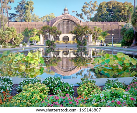San Diego Balboa Park Botanical Building San Diego, California  - stock photo