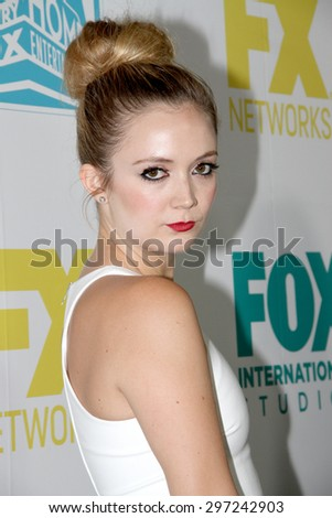 SAN DIEGO, CA - JULY 10: Billie Lourd arrives at the 20th Century Fox/FX Comic Con party at the Andez hotel on July 10, 2015 in San Diego, CA. - stock photo