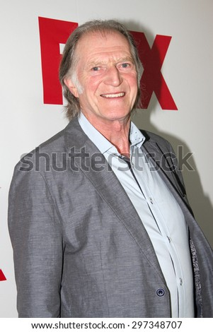 SAN DIEGO, CA - JULY 10: David Bradley arrives at the 20th Century Fox/FX Comic Con party at the Andez hotel on July 10, 2015 in San Diego, CA. - stock photo