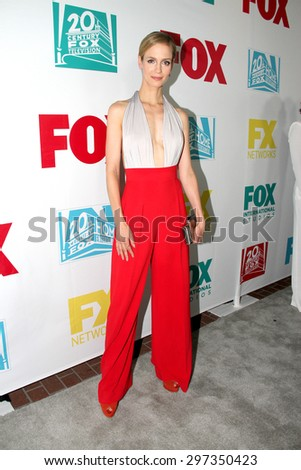 SAN DIEGO, CA - JULY 10: Laura Regan arrives at the 20th Century Fox/FX Comic Con party at the Andez hotel on July 10, 2015 in San Diego, CA. - stock photo