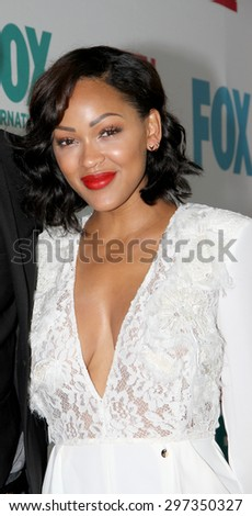 SAN DIEGO, CA - JULY 10: Meagan Good arrives at the 20th Century Fox/FX Comic Con party at the Andez hotel on July 10, 2015 in San Diego, CA. - stock photo