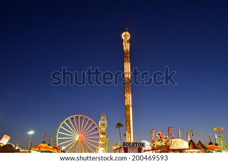 SAN DIEGO, CA -  JULY 1:  Scene from the San Diego County Fair on July 1, 2011 in San Diego, California. In recent years, attendance figures have risen above a million annually. - stock photo