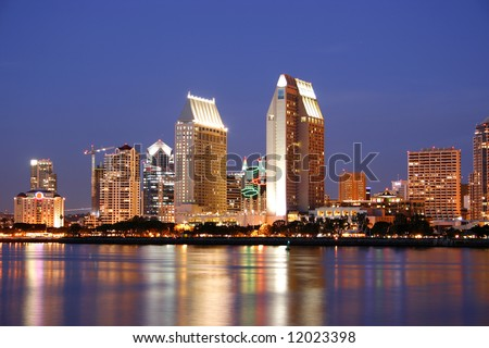 San Diego, Ca. Skyline. - stock photo