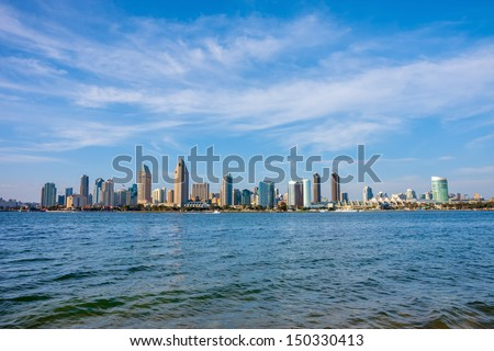 San Diego California skyline - stock photo