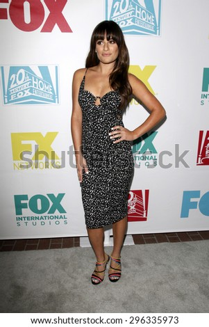 SAN DIEGO - JUL 10:  Lea Michele at the 20th Century Fox Party Comic-Con Party at the Andaz Hotel on July 10, 2015 in San Diego, CA - stock photo