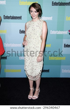 SAN DIEGO - JUL 11:  Maisie Williams at the Entertainment Weekly's Annual Comic-Con Party at the Hard Rock Hotel on July 11, 2015 in San Diego, CA - stock photo
