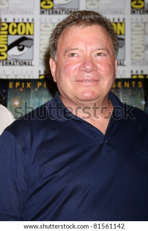 SAN DIEGO - JUL 22:  William Shatner at the 2011 Comic-Con Convention - Day 2 at San Diego Convention Center on July 22, 2010 in San DIego, CA - stock photo