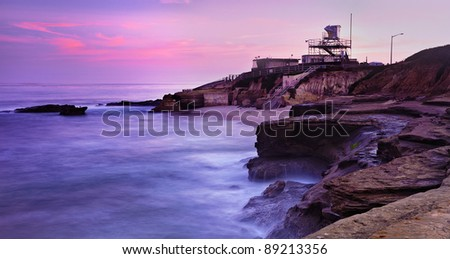 San Diego La Jolla Cove, San Diego, California - stock photo