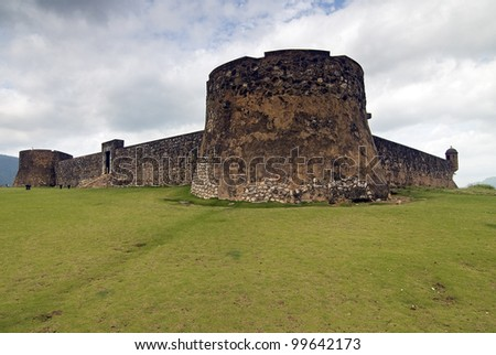 San Felipe Fortress at  Puerto Plata, Dominican Republic - stock photo