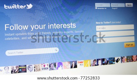 SAN FRANCISCO, CA - MAY 14: Twitter announced that it gets 13 billion API requests a day from 600,000 developers working on apps that will utilize the service. May  14, 2011 in San Francisco, CA - stock photo