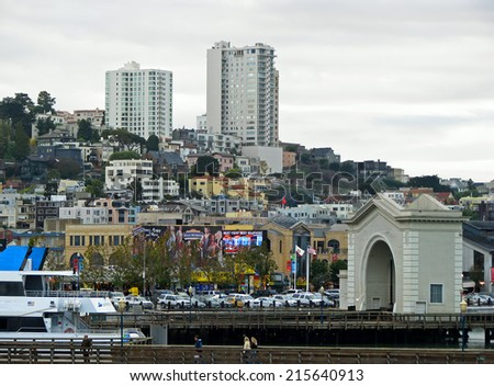 SAN FRANCISCO, CA - NOVEMBER 17: Cityscape in Daytime November 17, 2012 in San Francisco, California - stock photo