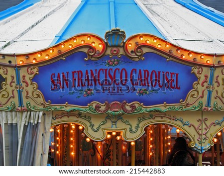 SAN FRANCISCO, CA - NOVEMBER 17: San Francisco Carousel Pier 39  November 17, 2012 in San Francisco, California - stock photo