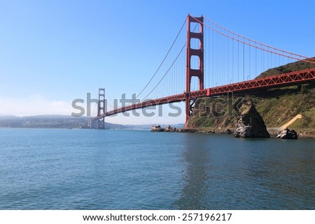 San Francisco, California, United States - Golden Gate Bridge. - stock photo