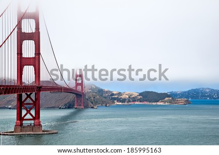SAN FRANCISCO, CALIFORNIA/USA - AUGUST 5 : Golden Gate Bridge in San Francisco on August 5, 2011 - stock photo