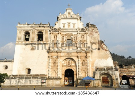 San Francisco church at Antigua on Guatemala - stock photo
