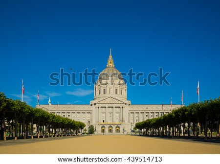 San Francisco city hall during the day - stock photo