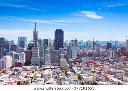 San Francisco downtown general view - stock photo