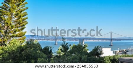 San Francisco - Oakland Bay Bridge - stock photo