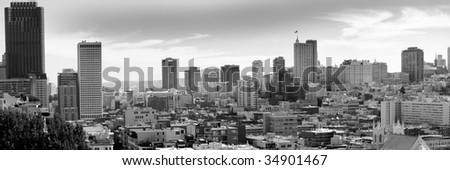 san francisco residential area - stock photo