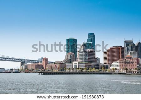 San Francisco skyline, California, USA - stock photo