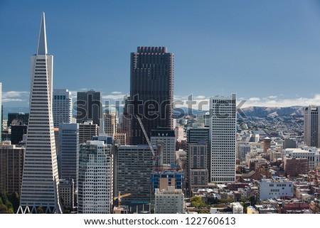 San Francisco, Skyline, Financial District - stock photo